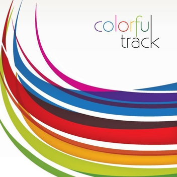 Colorful Curved Tracks Background - vector gratuit #274817