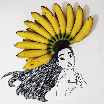 Pocahontas with banana brunch - Kostenloses image #275077