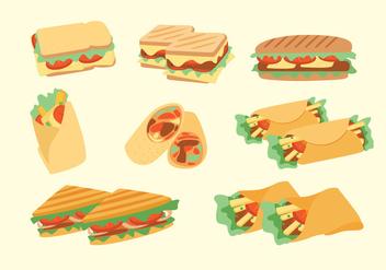 Panini Sandwich Vectors - vector #275187 gratis