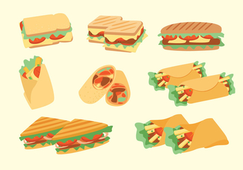 Panini Sandwich Vectors - Free vector #275187