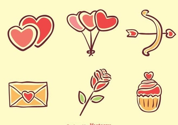 Love Cartoon Icons - Kostenloses vector #275247