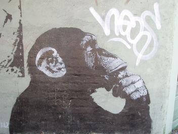 Bansky monkey - image gratuit #275687