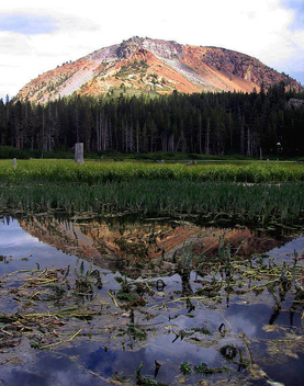 Twin lakes peak reflection - image #277377 gratis