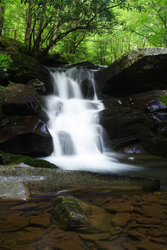 Seneca-Creek-Waterfall-Underwater-Rocks - Free image #278637