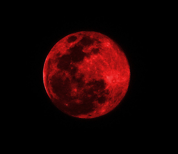 Red Moon - Suspended in Space - Free image #279247