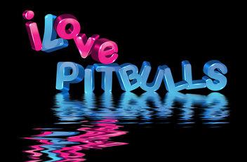 I Love Pitbulls, 3D Letters - image gratuit #281297