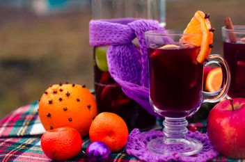 hot mulled wine in beautiful glasses - image gratuit #297517
