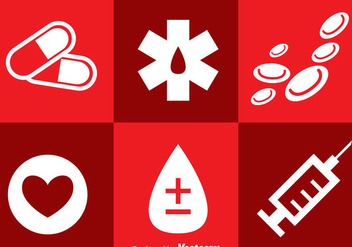 Hospital Icons - vector gratuit #297627