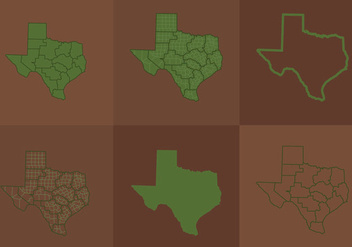 Texas Map - vector #297697 gratis