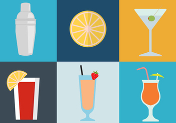 Cocktail Icons - vector gratuit #297707