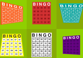 Bingo Card Vectors - бесплатный vector #297807