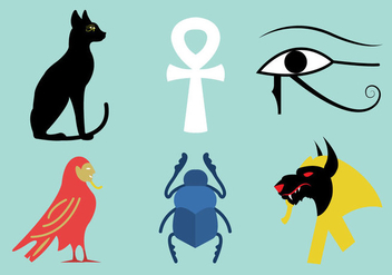 Vector Set of Egyptian Symbols - Kostenloses vector #297837