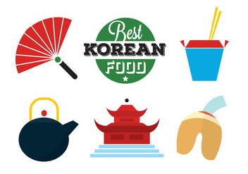 Korean Food Icons - Free vector #297877