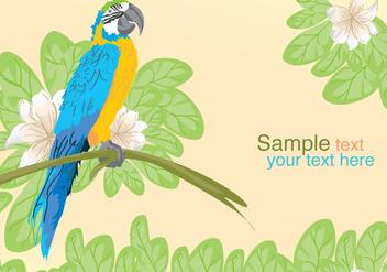 Vector Parrot Posing - Kostenloses vector #297947
