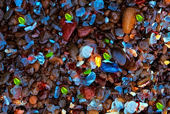 This is the glass at Glass Beach - Free image #301257