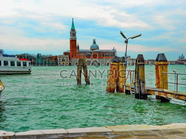 Gondola boat pier in Venice - Free image #301427