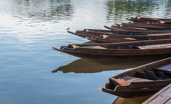 Wooden boats on a pier - бесплатный image #301457