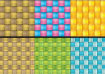 Colorful Wicker Texture Vectors - vector gratuit #301477