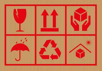 Free Cardboard Symbols Vector - Kostenloses vector #301507