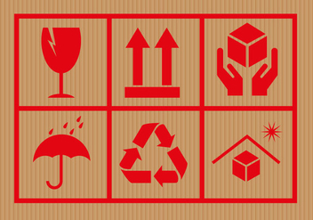 Free Cardboard Symbols Vector - бесплатный vector #301507