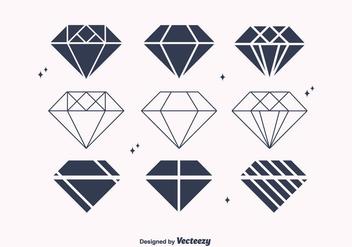 Free Flat Diamond Vectors - Kostenloses vector #301537