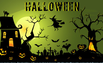 Spooky Halloween Night Background - vector #301857 gratis