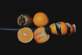 Persimmons and Orange slices - image #301957 gratis