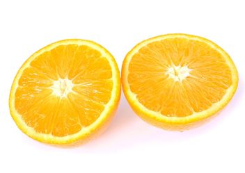 Orange slices on white background - image gratuit #301967