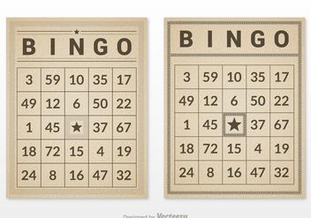 Free Retro Bingo Card Set Vector - Kostenloses vector #302117