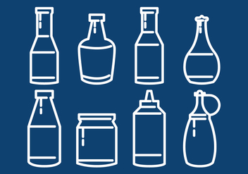Bottle Sauce Outline - Free vector #302197