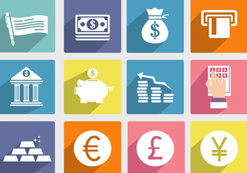 Bank and Economic Vector Icon - vector gratuit #302217