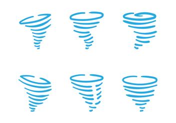 Hand Drawn Tornado Vectors - Kostenloses vector #302227