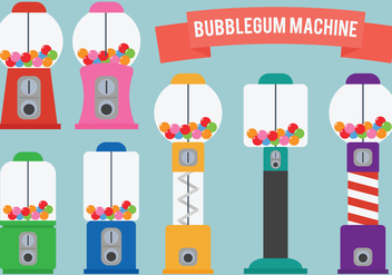 Bubblegum Machine Vectors - Free vector #302237