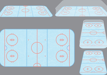 Ice Hockey Rink Vectors - Free vector #302257