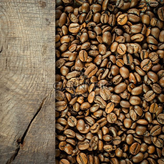 Coffee bean with wooden plank - Free image #302287