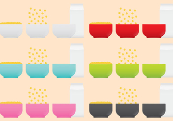 Cereal Bowls - Free vector #302677