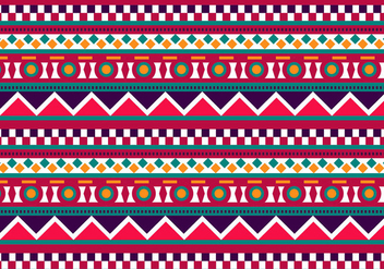 Ethnic Background Vector - Free vector #302707
