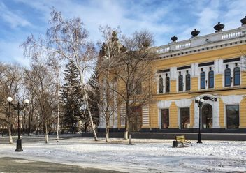 Yellow building in Blagoveschensk, Russia - бесплатный image #302777