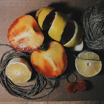 Lemon pee, dried apricot and tangle - Free image #302847