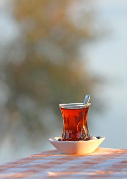 Traditional Glass of Turkish Tea - image gratuit #302907