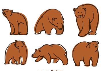 Bear Vector - vector #302987 gratis