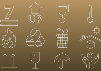 Packaging Thin Icons - vector gratuit #303087