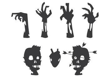 Zombie's Body Vector - Kostenloses vector #303107