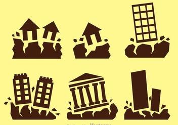 Earthquake Vector Icons - Free vector #303147