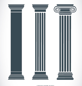Ancient greek pillars - Free vector #303187