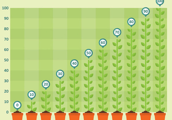 Chart Plant Vector - Kostenloses vector #303417