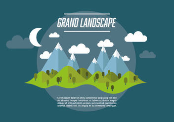 Free Web Travel Vector Background With Beautiful Landscape - Free vector #303457