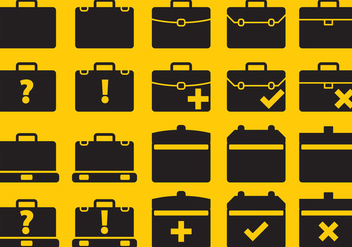 Vector Suitcase Icons - Free vector #303517