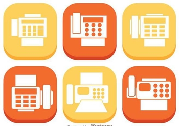 Fax Flat Icons - Free vector #303527