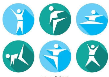 Vector Gymnast Icons - Free vector #303547